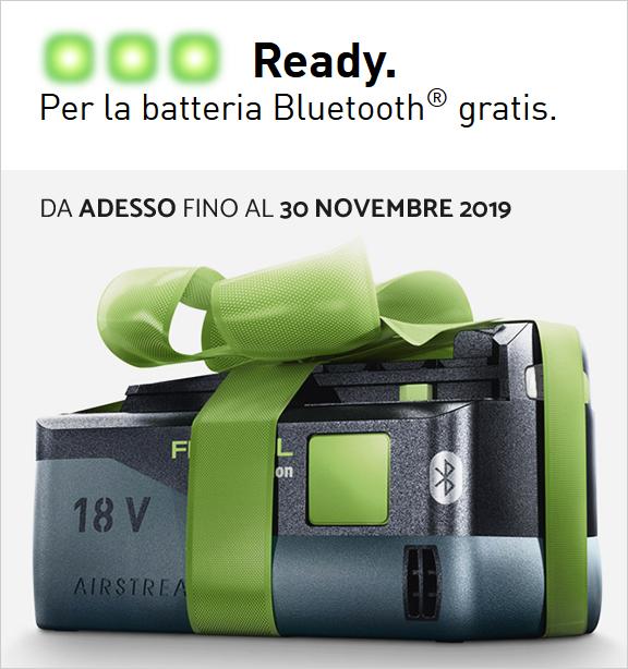 Offerta FESTOOL: acquisti un utensile e hai una batteria omaggio AIRSTREAM!