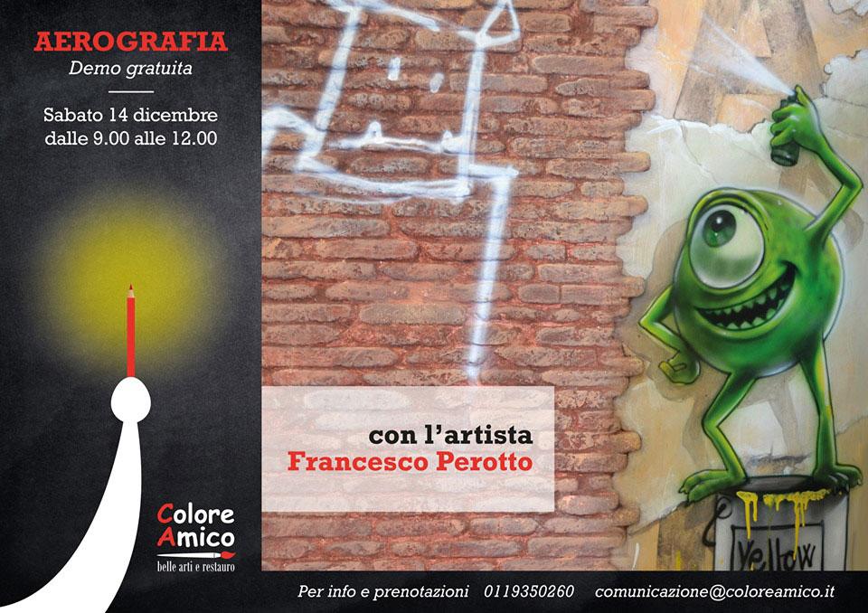 Demo gratuita di aerografia con Francesco Perotto
