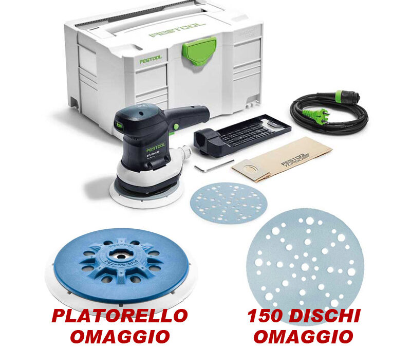 Promo levigatrice Festool ETS 150 EQ-Plus in systainer