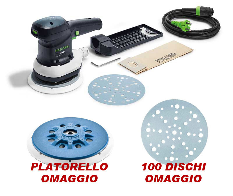 Promo levigatrice Festool ETS 150 EQ in cartone
