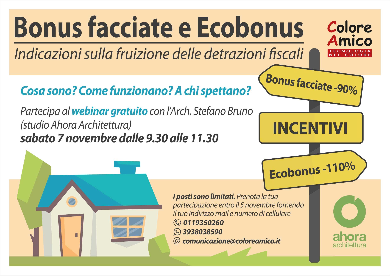 Webinar gratuito Bonus facciate e Ecobonus